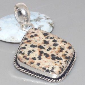 Jewelry - Dalmation Jasper Silver Overlay Pendant